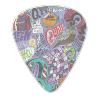 Crazy Abstract Pattern Pearl Celluloid Guitar Pick