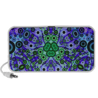 Crazy Abstract Pattern Laptop Speakers
