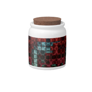 Crazy Abstract Pattern Candy Jar