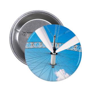 Crazy angle of huge white ferris wheel 6 cm round badge