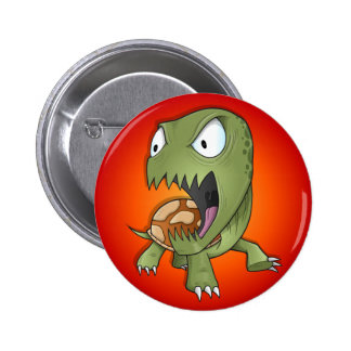 Crazy Angry Insane Turtle Button