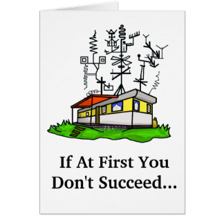 Crazy Antenna Mobile Home Ham Radio Greeting Card