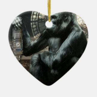 Crazy Ape Gorilla Animal Christmas Ornament