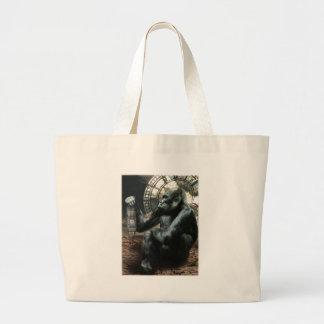 Crazy Ape Gorilla Animal Large Tote Bag