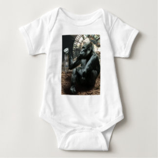 Crazy Ape Gorilla Animals Baby Bodysuit