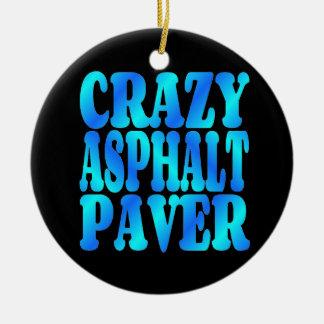 Crazy Asphalt Paver Christmas Ornament