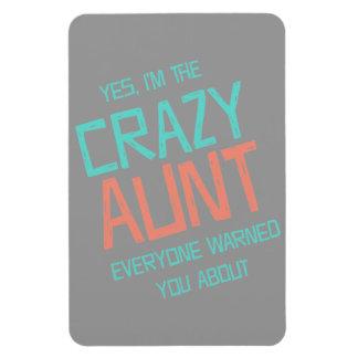 Crazy Aunt Rectangular Photo Magnet