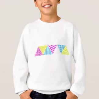 Crazy Aztec Colour Fun 80's Look Sweatshirt