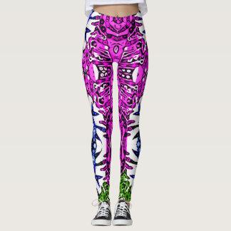 Crazy Aztec Zebra Print Pattern Womens Leggings