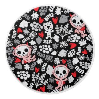 Crazy babies pattern ceramic knob