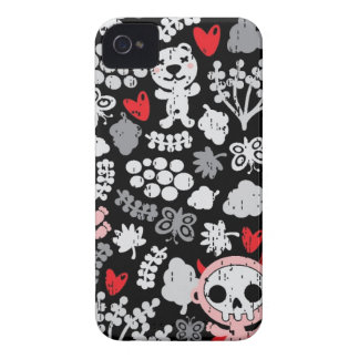 Crazy babies pattern iPhone 4 Case-Mate cases