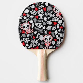Crazy babies pattern ping pong paddle