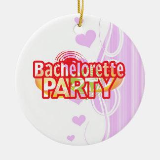 crazy bachelorette party wild retro vintage crazy christmas tree ornament