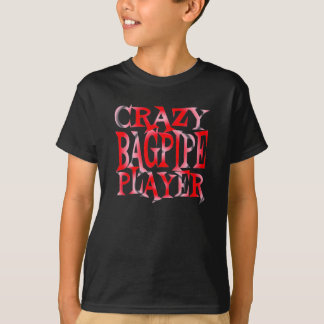 Crazy Bagpipe Player in Red T-Shirt