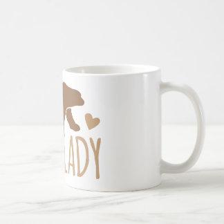Crazy Bear Lady Basic White Mug