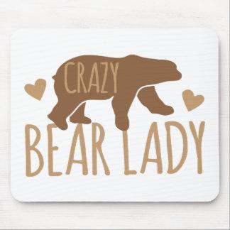 Crazy Bear Lady Mouse Pad
