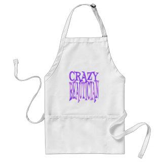 Crazy Beautician in Purple Standard Apron