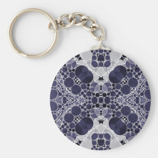 Crazy Beautiful Abstract Basic Round Button Key Ring