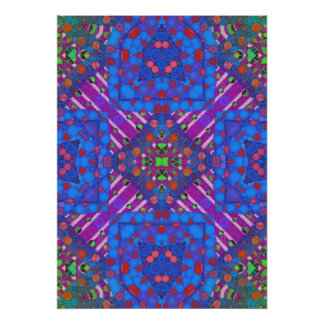 Crazy Beautiful Abstract Poster