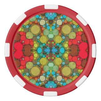 Crazy Beautiful Abstract Triton Poker Chips