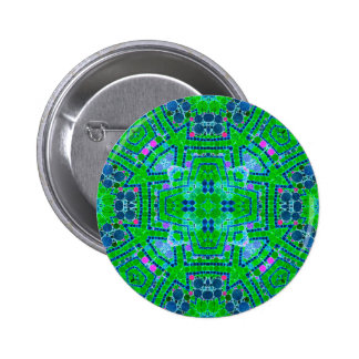 Crazy Beautiful Florescent Green Abstract 6 Cm Round Badge