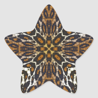 Crazy Beautiful Leopard Star Sticker