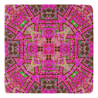 Crazy Beautiful Pink Abstract Trivet