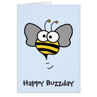 Crazy Bee Greeting Card