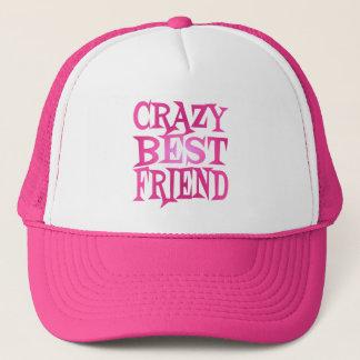 Crazy Best Friend in Pink Trucker Hat