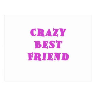 Crazy Best Friend Postcard