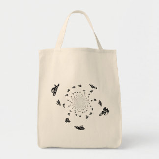 Crazy Bikes in a cycling whirl Tote Bag