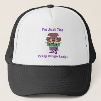 Crazy Bingo Lady Trucker Hat