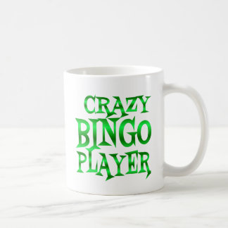 Crazy Bingo Player in Green Coffee Mug