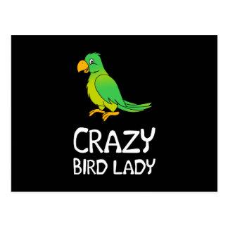 Crazy Bird Lady Postcard