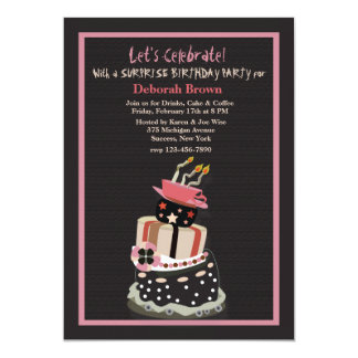 Crazy Birthday Cake Invitation