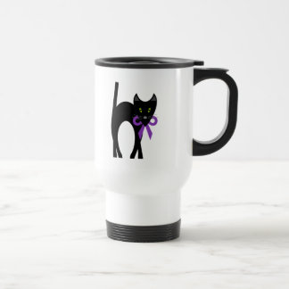 Crazy Black Cat Stainless Steel Travel Mug