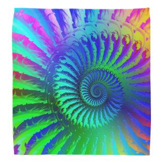 Crazy Blue Fractal Art Pattern Head Kerchiefs