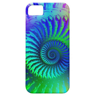 Crazy Blue Fractal Pattern Barely There iPhone 5 Case