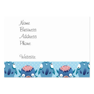 Crazy Blue Monsters Fun Creatures Gifts for Kids Pack Of Chubby Business Cards