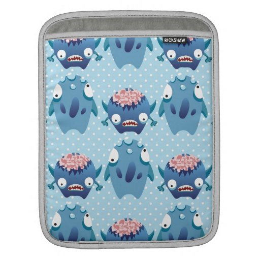 Crazy Blue Monsters Fun Creatures Gifts for Kids iPad Sleeves