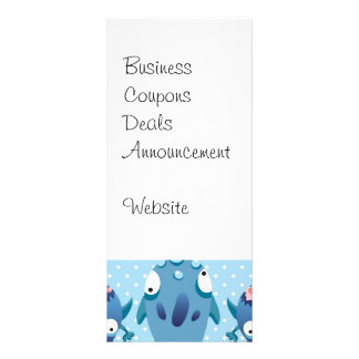 Crazy Blue Monsters Fun Creatures Gifts for Kids Rack Cards