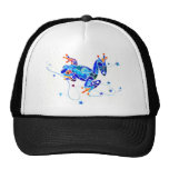 CRAZY BLUE TREE FROGS MESH HAT