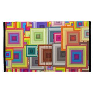 Crazy Brady Squares iPad Folio Cover