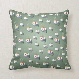 Crazy Bug-Eyed Aliens Throw Pillow
