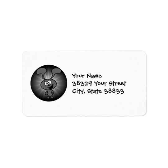 Crazy Bunny Address Label