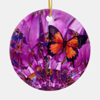 Crazy Butterfly Wings Christmas Ornament