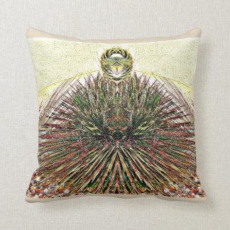 Crazy Cactus Photo Art Poly Throw Pillow