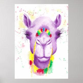 "Crazy Camel 20"" x 16"", Poster Paper (Matte)"