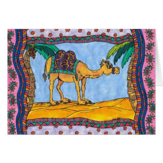 Crazy Camel Greeting Card