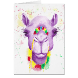 Crazy Camel Greetings Card